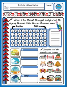 DAYS OF THE WEEK & MONTHS WORKSHEET#