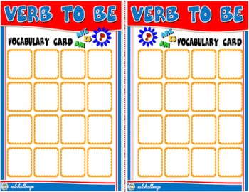 VERB TO BE BOARD GAME CARDS