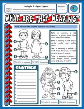 CLOTHES WORKSHEET#