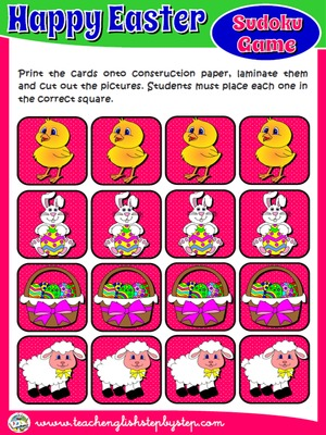 EASTER SUDOKU GAME CARDS