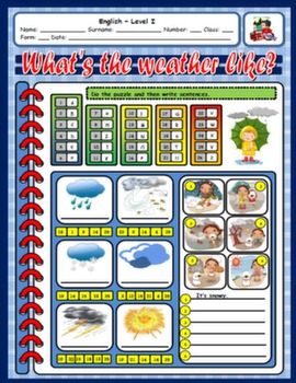 THE WEATHER WORKSHEET#