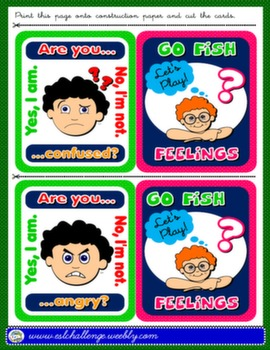 FEELINGS + TO BE GO FISH! GAME