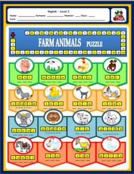 ANIMALS WORKSHEET#