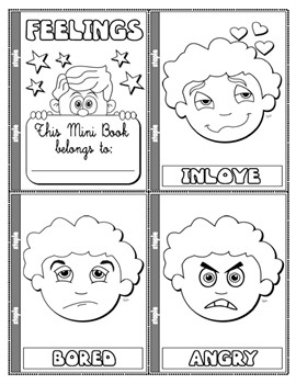 #FEELINGS COLOURING MINI BOOK (13 PAGES)