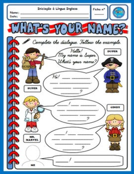 NAMES WORKSHEET FOR 2ND GRADERS#