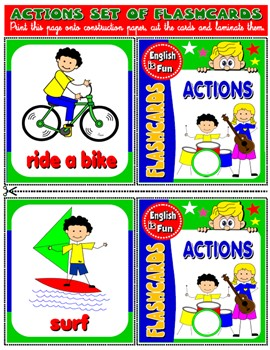 #ACTIONS FLASHCARDS (20 FLASHCARDS)