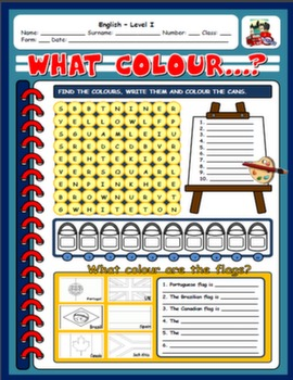 COLOURS WORKSHEET#