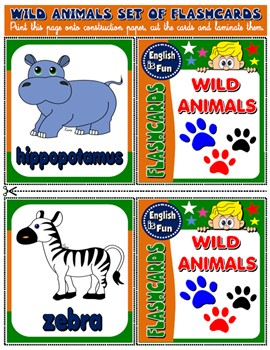 #WILD ANIMALS (15 FLASHCARDS)