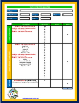 Excel Test Correction Sheet