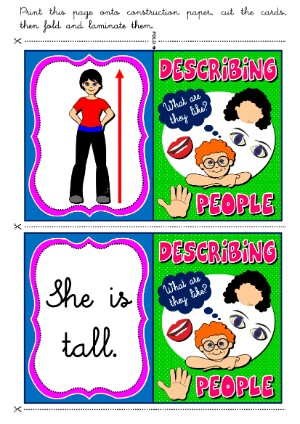 DESCRIBING PEOPLE MEMORY GAME (64 CARDS)