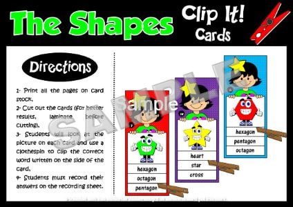 SHAPES - CLIP IT! CARDS