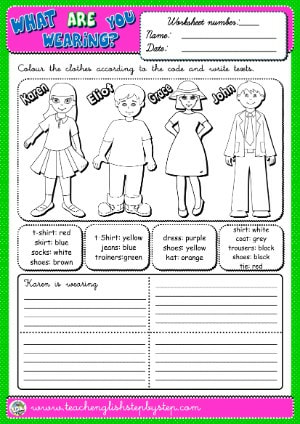 #WHAT ARE YOU WEARING? WORKSHEET